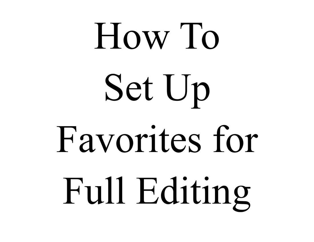 Favorites for Full Editing #4